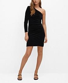 Women's Fitted Metallic-Effect Dress