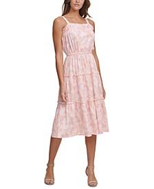 Tiered-Hem Midi Dress