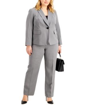 Plus Size Shawl-Collar Pantsuit