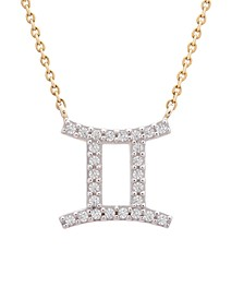 Diamond Gemini Pendant Necklace (1/10 ct. t.w.) in 14K Yellow Gold or 14K White Gold