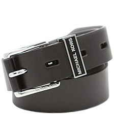Bias-Cut Leather Belt