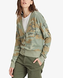 Let's Hang Camo-Print Cardigan