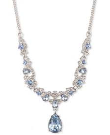 """Silver-Tone Crystal Cluster Lariat Necklace, 16"""" + 3"""" extender"""