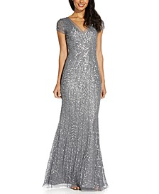 Beaded Sequin Mermaid Gown