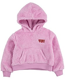 Toddler Girls Sherpa Fleece Pullover Hoodie