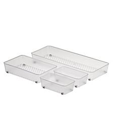 Diversified Hexa In-Drawer Organizer Set of 4 Assorted Storage Trays