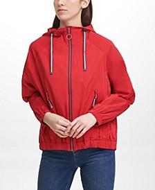 Women's Iconic Sporty Hooded Windbreaker Coat