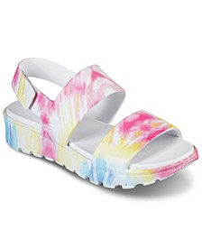 Women's Cali Gear: Footsteps - Groovy Te-Dye Sandals from Finish Line