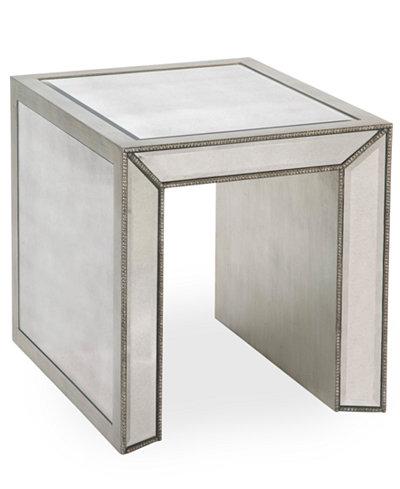 Sophia Mirrored End Table - Sophia Mirrored End Table - Furniture - Macy's