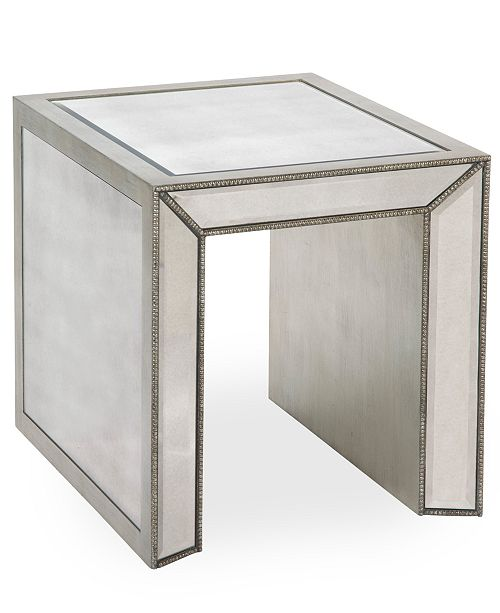 Closeout Sophia Mirrored End Table
