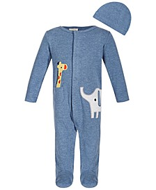 Baby Boys 2-Pc. Safari Footed Coveralls & Hat Set, Created for Macy's
