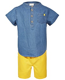Toddler Boys Chambray Shirt & Shorts Set, Created for Macy's