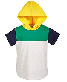 Baby Boys Hooded Colorblocked Top, Created for Macy's