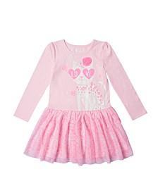 Little Girls Graphic Tutu Dress