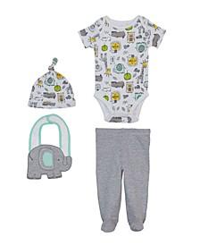 Baby Boys Elephant Newborn, 4 Piece Set