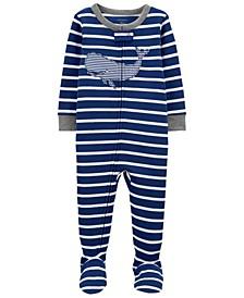 Toddler Boys Whale Snug Fit Footie Pajama Set