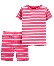Toddler Boys or Girls 2 Piece Striped Snug Fit Pajama Set