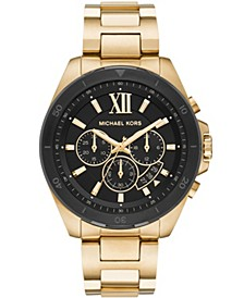 Men's Brecken Chronograph Gold-Tone Stainless Steel Bracelet Watch 45mm