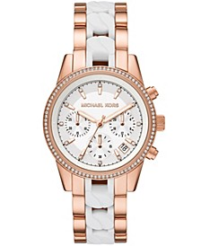 Women's Ritz Chronograph Two-Tone Stainless Steel Bracelet Watch 37mm