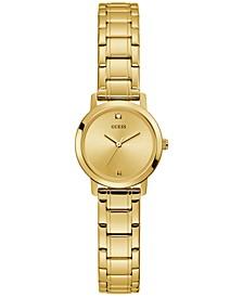 Women's Diamond-Accent Gold-Tone Stainless Steel Bracelet Watch 25mm