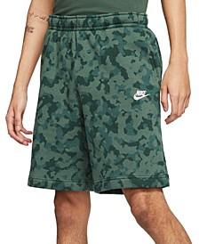 Men's Camo Fleece Shorts