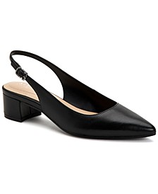 Women's Charrlee Step 'N Flex Block-Heel Slingback Pumps, Created for Macy's