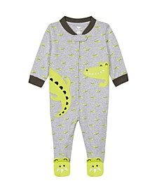 Baby Boys Alligator Footie Pajama