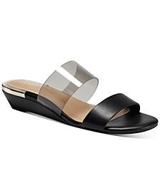 Women's Tilley Vinyl Demi-Wedge Sandals, Created for Macy's
