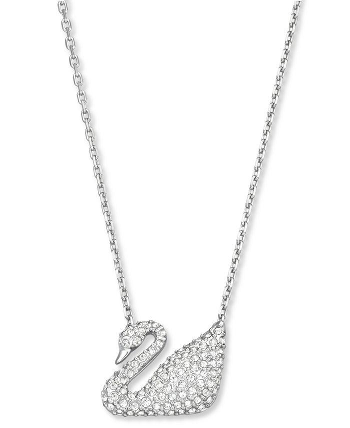Swarovski - Pendant, Crystal Pave Swan