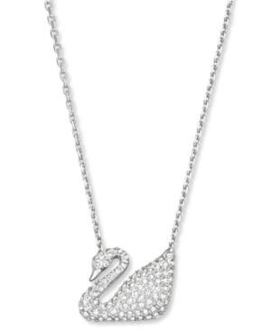 Swarovski Pendant, Crystal Pave Swan