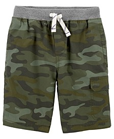 Big Boys Camo Easy Pull-On Shorts
