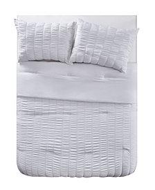 VCNY Home Billie Seersucker Stripe 3 Piece Comforter Set, King