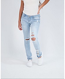Big Girls Destructed Skinny Jeans