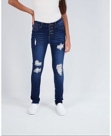 Big Girls 4 Button Skinny Jeans