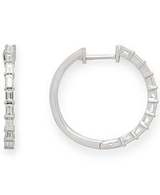EFFY® Diamond Hoop Earrings (3/4 ct. t.w.) in 14K White Gold