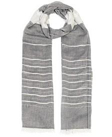 Chambray Metallic Striped Wrap