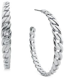 """1.2"""" Medium Chain Hoop Earrings"""