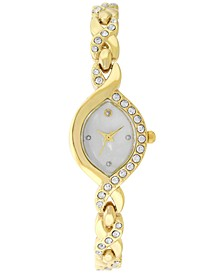 Women's Gold-Tone Crystal-Accent Crisscross Bracelet Watch 35mm, Created for Macy's