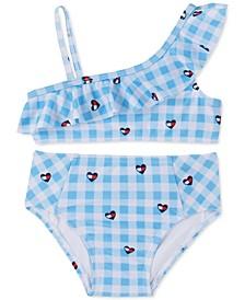 Baby Girls 2-Pc. Gingham Ruffle Swimsuit