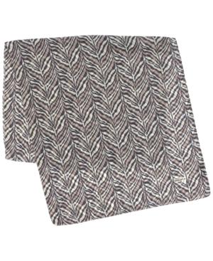 Zebra-Print Wrap Scarf