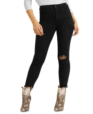 Guess Jeans 1981 MID RISE DISTRESSED SKINNY ANKLE JEANS