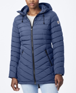Bernardo ECOPLUME QUILTED MICRO TOUCH COAT