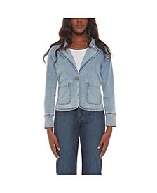 Women's Denim Blazer Jacket