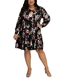 Women's Plus Size Trapeze Dress