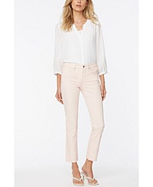 Petite Sheri Slim Ankle Jeans with Fray Hems