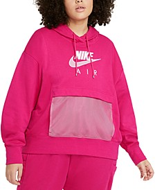 Air Plus Size Women's Graphic Hooded Sweatshirt