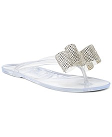 INC Madena Bow Jelly Sandals, Created for Macy's