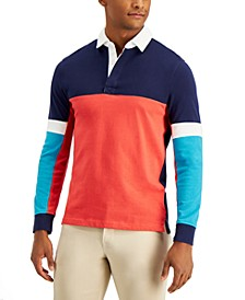 Men's Colorblocked Rugby Shirt, Created for Macy's