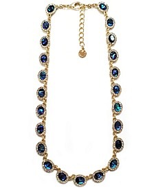 """Gold-Tone Crystal All Around Necklace, 17"""" + 2"""" extender"""