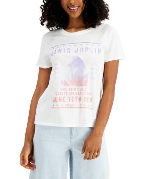 Women's Janis Joplin-Graphic Cotton T-Shirt
